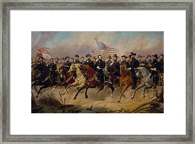 Grant And His Generals Framed Print by Ole Peter Hansen Balling