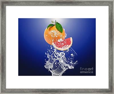 Grapefruit Splash Framed Print by Marvin Blaine