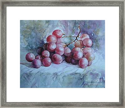 Framed Print featuring the painting Grapes... by Elena Oleniuc