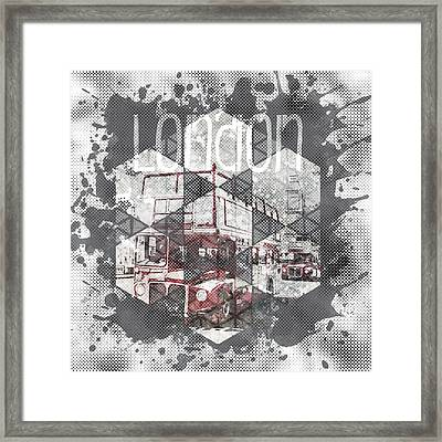 Graphic Art London Streetscene Framed Print by Melanie Viola