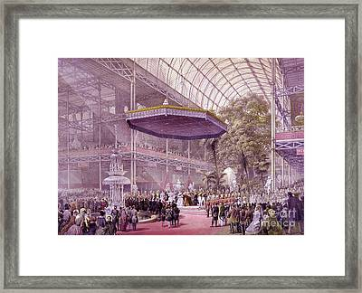 Great Industrial Exhibition Opening Framed Print by Science Source