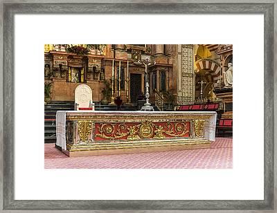 Great Mosque Altar - Cordoba Spain Framed Print by Jon Berghoff