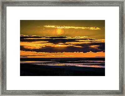 Great Salt Lake Sunset Framed Print