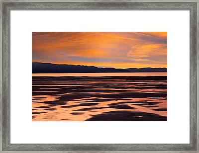 Great Salt Lake Sunset Framed Print by Utah Images