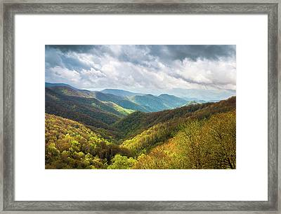 Great Smoky Mountains North Carolina Spring Scenic Landscape Framed Print