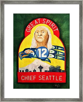 Great Spirit Seattle 12s Framed Print