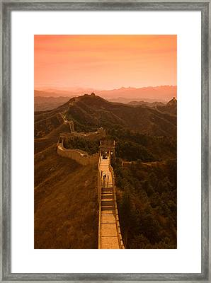 Great Wall Of China Framed Print by Gloria & Richard Maschmeyer - Printscapes