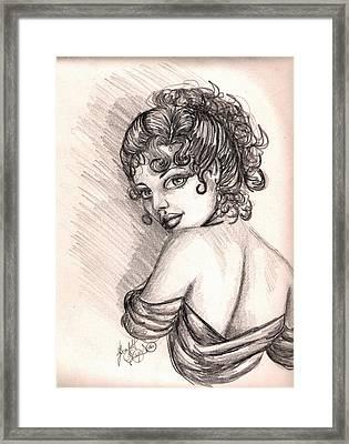 Greek Goddess Framed Print by Scarlett Royal