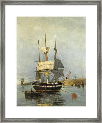 Greek Ship Framed Print
