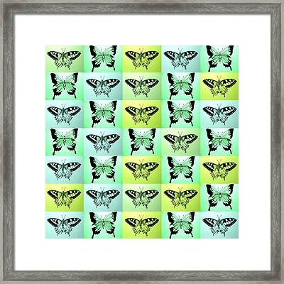 Green Butterfly Fantasy Framed Print by Cathy Jacobs