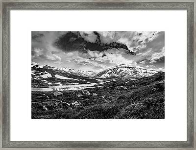 Framed Print featuring the photograph Green Carpet Under The Cotton Sky by Dmytro Korol