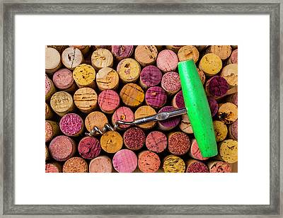 Green Corkscrew Framed Print by Garry Gay