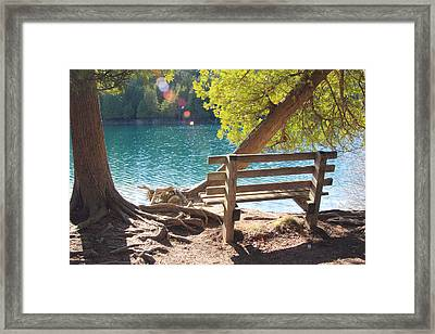 Green Lakes Framed Print