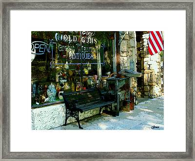 Green Lantern Antiques Framed Print by Julie Grace
