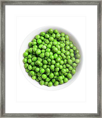 Green Peas In The Bowl Framed Print by Vadim Goodwill