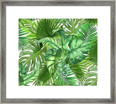 Green Tropic  Framed Print