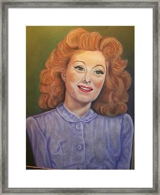 Greer Garson Framed Print by Deborah Steinmetz