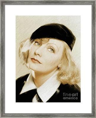 Greta Garbo, Vintage Actress Framed Print