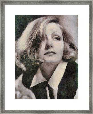 Greta Garbo Vintage Hollywood Actress Framed Print by John Springfield