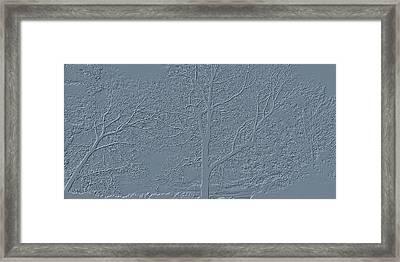 Grey Embossed Trees Framed Print