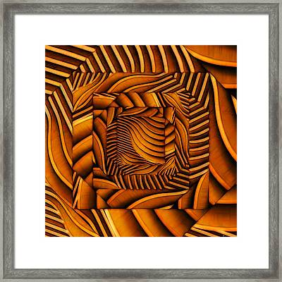 Framed Print featuring the digital art Groovy by Ron Bissett