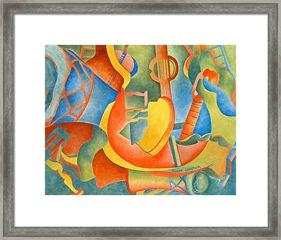 Grosse Guitare Framed Print