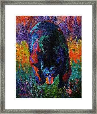 Grounded - Black Bear Framed Print