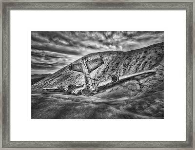 Grounded Plane Wreck Framed Print
