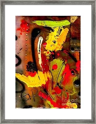 Growing Framed Print by Angela L Walker