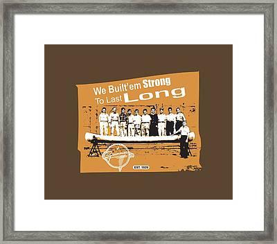 Grumman Canoe Framed Print