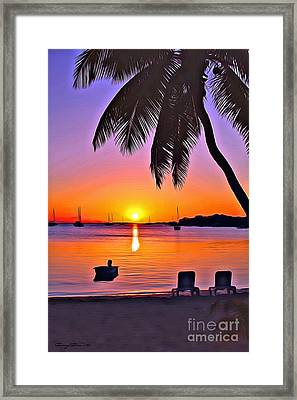 Guana Cay Framed Print by Carey Chen