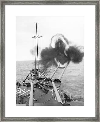 Gulf Of Tonkin Warfare Framed Print by Underwood Archives