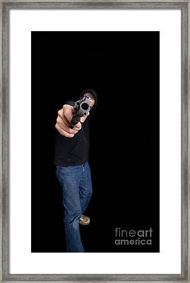 Gun Man Framed Print by Edward Fielding