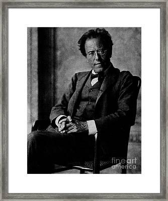 Gustav Mahler Framed Print by Austrian School