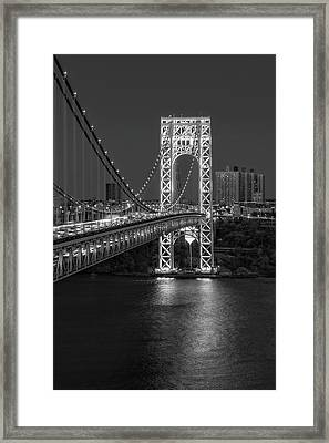 Gw Bridge At Twilight Framed Print