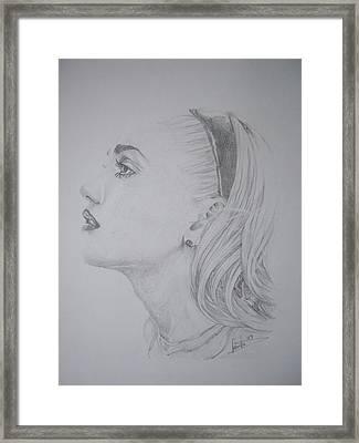 Gwen Stefani Framed Print by Sean Leonard