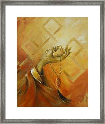 Framed Print featuring the painting Gyan Mudra by Dina Dargo