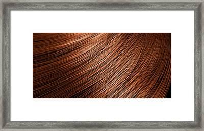 Hair Blowing Closeup Framed Print by Allan Swart