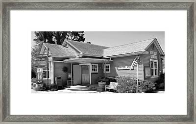 Halcyon Store Halcyon California Bw Framed Print by Barbara Snyder