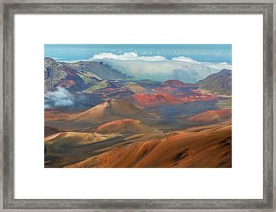 Haleakala Crater Framed Print by Kelley King
