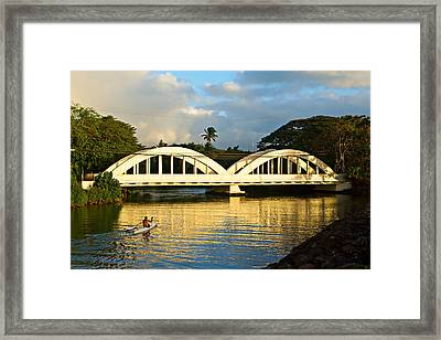 Haleiwa Bridge Framed Print by Paul Topp