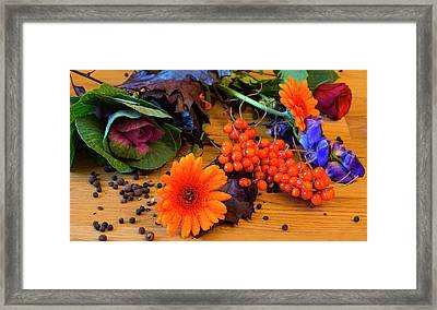 Halloween Decoration Framed Print by Tamara Sushko
