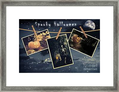 Halloween Line Framed Print by Amanda Elwell