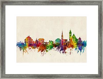 Hallstatt Austria Skyline Framed Print