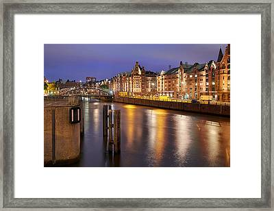 Framed Print featuring the photograph Hamburg Speicherstadt by Marc Huebner