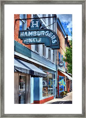 Hamburgers In Indiana Framed Print
