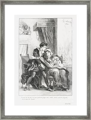 Hamlet Et La Reine Framed Print