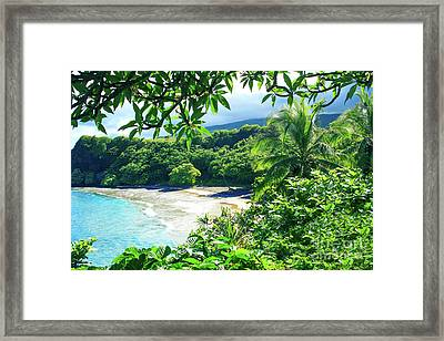 Framed Print featuring the photograph Hamoa Beach Hana Maui Hawaii by Sharon Mau