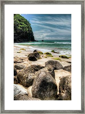 Hanakapi'ai Beach Framed Print by Natasha Bishop