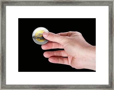 Hand And Dash Framed Print